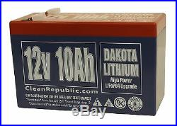 12 V 10 Ah LiFePO4 Battery Lithium (IN BULK OF FIVE, SHIPPING INCLUDED)