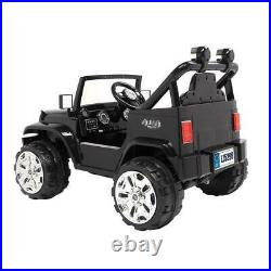 12V Kids Ride on Truck Battery Powered Electric Car With Remote Control Black
