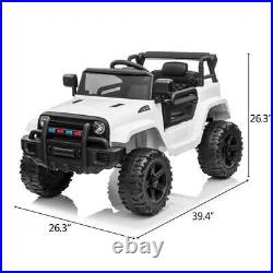 12V Kids Ride on Truck Battery Powered Electric Car With Remote Control Safe