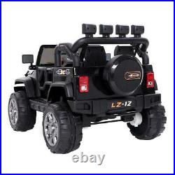 12V Ride on Car Kids Toys Battery Powered 4Wheel Music Remote Control Black