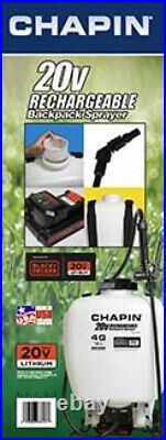 4 Gallon Rechargeable Backpack Sprayer 20V Battery Fertilizing Pest Weed Control