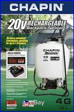 4 Gallon Rechargeable Backpack Sprayer 20V Battery Fertilizing Weed Pest Control