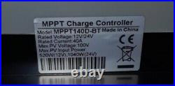 40A MPPT, Bluetooth Solar battery Charge Controller 12V 24V includes Lithium