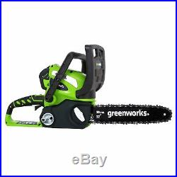 40V Cordless Electric Chainsaw Clean Battery Powered For Wood Cutting Cutter New