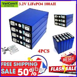 4Pc 3.2V 100Ah LiFePO4 battery pack iron phosphat Motorcycle Electric Car Solar
