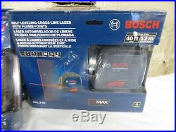 7 BOSCH lasers and 1 Dewalt NEW IN BOXES