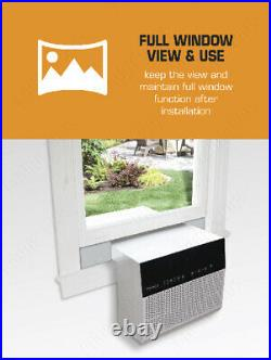 8000 BTU Saddle Window Sill Air Conditioner, 375 Sq Ft Room Low Profile Home AC