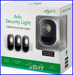 Arlo Security Light System with 3 Wire-Free Smart Lights Including Extra Battery