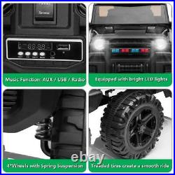 BLACK 12V Kids Ride on Truck Battery Powered Electric Car With Remote Control Safe