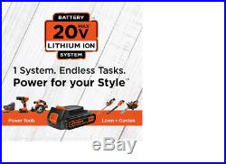 BLACK+DECKER 4-Tool 20-Volt Power Tool Combo Kit Charger Included and 2-Batteri