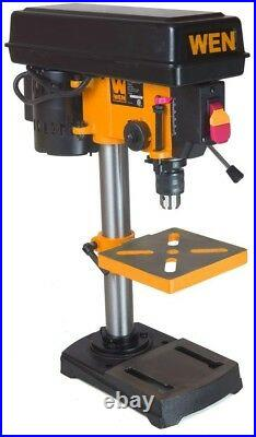 Bench Top Mini Drill Press 5 Speed Wood Metal Hobby Yellow Table Top 8 inch