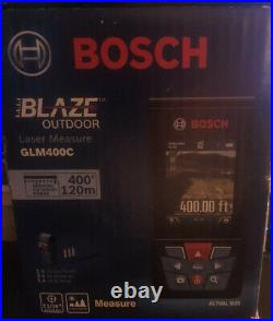 Bosch BLAZE GLM400C Outdoor 400ft Connected Laser Measure with Camera Viewfinder