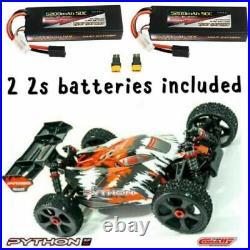 COMBO Team Corally 1/8 Python V2 With 2 2S LIPO BATTERIES INCLUDED XP 4WD Buggy