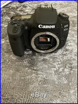 Canon EOS 90D DSLR Camera Black Body Only Battery And Strap No Charger Included