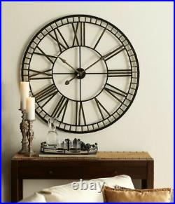 Chic Oversized Metal Wall Clock 40D Metal (Requires 1 C Battery, Not Included)