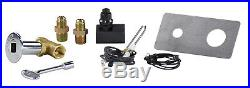 Complete Spark Ignition Kit with Keyed Ball Valve for Fire Pits