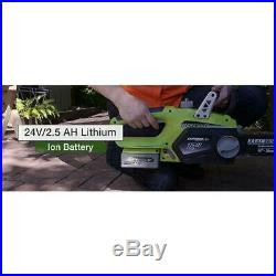 Cordless Chainsaw 12 in. 24 Volt Lithium Ion Auto Oil Charger Battery Included