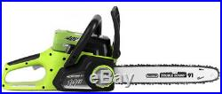 Cordless Chainsaw 14 in. 40 Volt Electric Charger Battery Included Chain Oiling