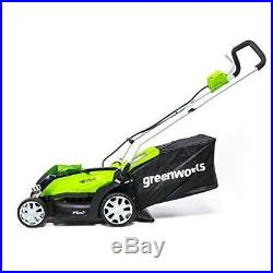 Cordless Electric Lawn Mower Twin Force Batteries Included 14 Garden Equipment