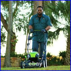 Cordless Lawn Mower Greenworks PRO 21-Inch 80V Battery Not Included Yard Cutter