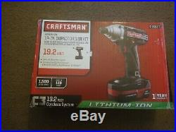 Craftsman 19.2 Volt Lithium Ion 1/4 Inch Impact Driver Kit Battery Included