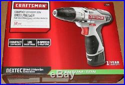 Craftsman Nextec 12v Lithium-Ion DRILL / DRIVER Kit + BATTERY / CHARGER Included