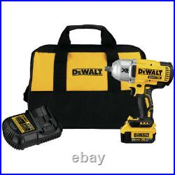 DEWALT 20V MAX XR Li-Ion 1/2 in. Impact Wrench with Detent Pin Anvil DCF899M1 New