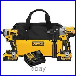 DeWALT DCK299M2 20V Lithium-Ion MAX XR Drill and Impact Driver Combo Kit