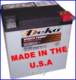 Deka 400CCA AGM Battery Harley FLH/T Touring Battery Tender Jr INCLUDED