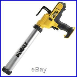 Dewalt DCE580 18v Lithium-Ion Caulking Gun 600ml Includes 2 x 2.0ah Batteries