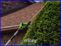Earthwise 20Volt 20 in Cordless Pole Hedge Trimmer, 2Ah Battery Charger Included