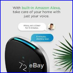 Ecobee4 Smart Thermostat with Built-In Alexa, Room Sensor Included, Easy Install