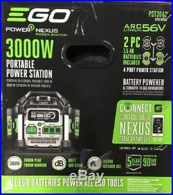Ego Pst3042 Power+ Portable Generator 3000w 2 7.5ah Batteries Charger Included