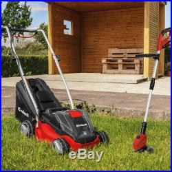 Einhell Cordless Mower and Strimmer Kit includes 2 batteries and chargers