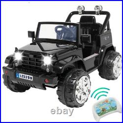 Electric 12V Kids Battery Ride On Car Toy Wheel Music Remote Control Black