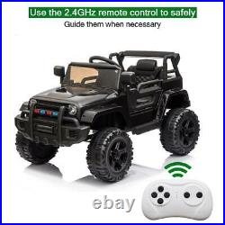 Electric 12V Kids Battery Ride On Car Toy Wheel Music with Remote Control BLACK