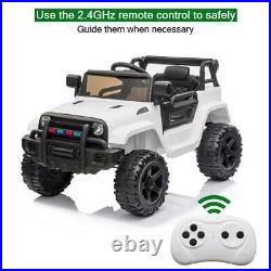 Electric 12V Kids Battery Ride On Car Toy Wheel Music with Remote Control WHITE