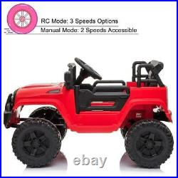 Electric 12V Kids Battery Ride On Car Toy Wheels Music with Remote Control RED