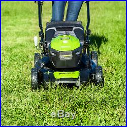 Electric Lawn Mower Battery Powered 20 Battery And Charger Included Greenworks