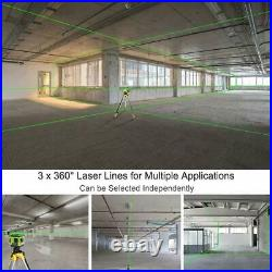 Electronic leveling Laser Level 3D 3x360 Green Beam 130FT Professional level