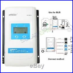 Epever MPPT Dual Battery Solar Controller 30A 20A 10A 12V/24V Include Meter MT11