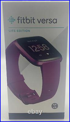 Fitbit Versa Lite Wearable Smartwatch One Size (S & L Bands Included) Mulber