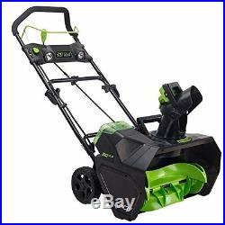 GreenWorks 2601302 Pro 80V 20 Snow Thrower battery and charger not included