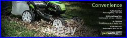 GreenWorks Pro GLM801601 21 Lawn Mower 2x 2AH 80V Batteries & Charger included