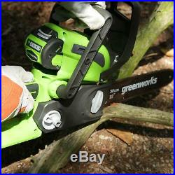 Greenworks 12 40V Cordless Chainsaw, 2.0 AH Battery and Charger Included 20262