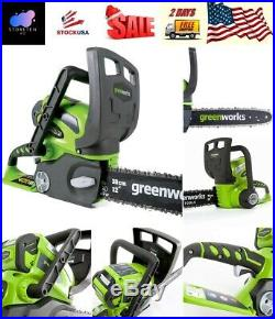 Greenworks 12 40V Cordless Chainsaw Battery Not Included Instant Electric Start