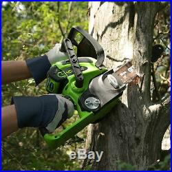 Greenworks 12-Inch 40V Cordless Chainsaw, 2.0 AH Battery and Charger Included