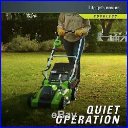 Greenworks 16-Inch 40V Cordless Lawn Mower 4.0 AH Battery Included 25322