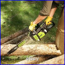 Greenworks 18-Inch 80V Chainsaw, Battery and Charger Included 2000002