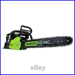 Greenworks 18-Inch 80V Chainsaw Kit, Battery and Charger Included 2004602